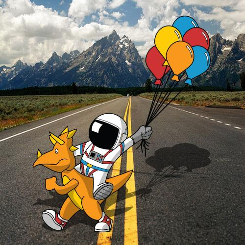 Cover of Bennett's mixed tape Year of the Orange Dinosaur, released in 2014