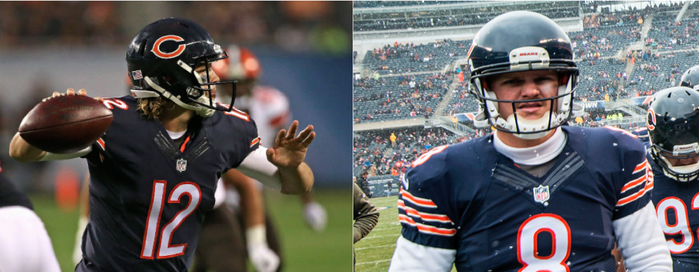 Do the Bears start David Fales (left) or Jimmy Clausen (right)?